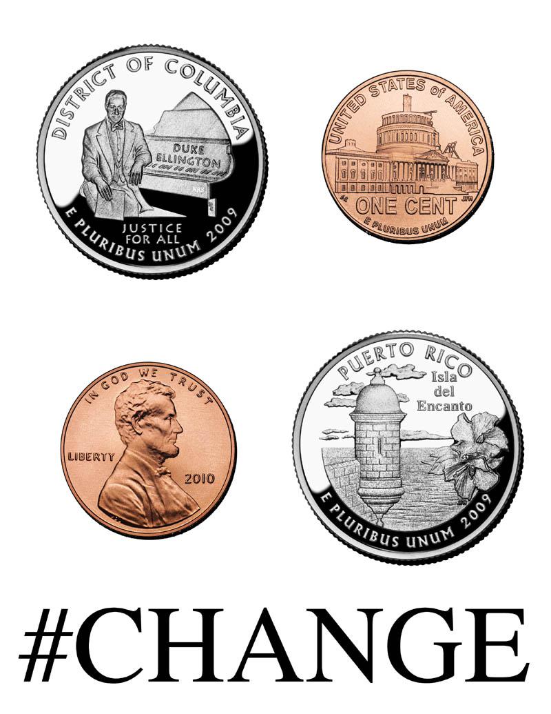 52 cents in change / 52 centavos en cambio  Nikolas R. Schiller