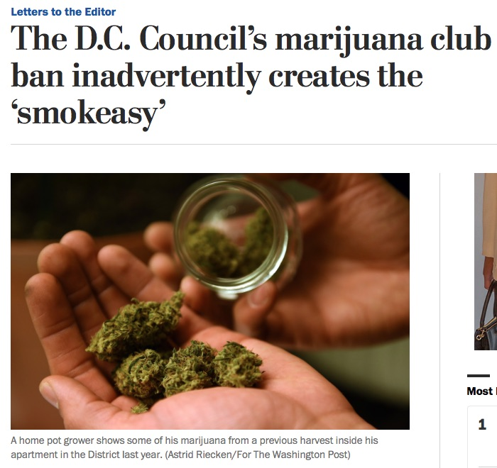 Screengrab of the Washington Post Letter to the Editor