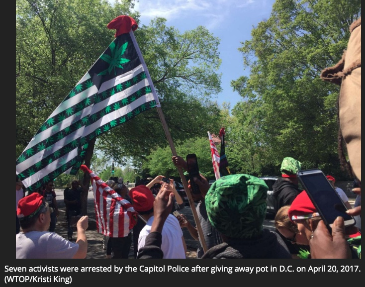 WTOP: On 4/20, DC pot advocates plan provocative protests