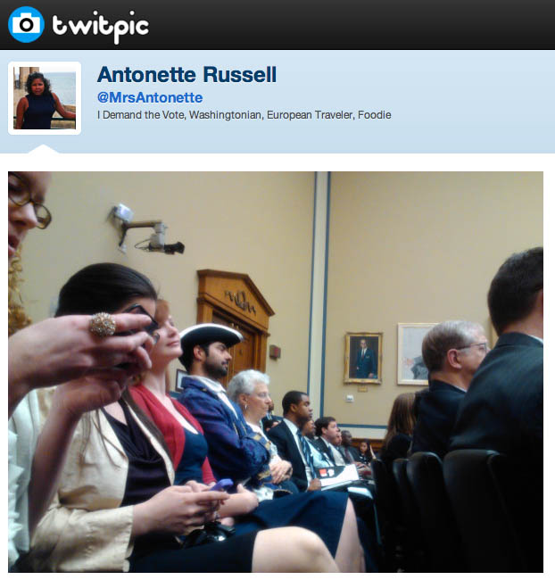 Twitpic from inside the hearing