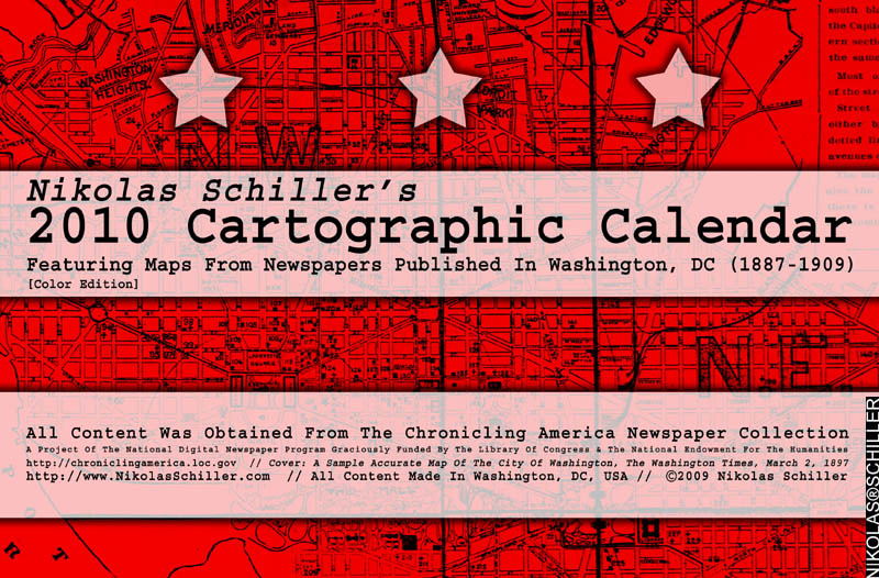 Front cover of the Color Edition of the 2010 Cartographic Calendar by Nikolas Schiller