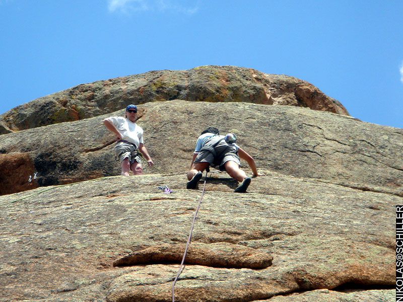 Photographs of Rock Climbing in Pike National Forest