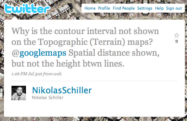 Screen grab of my tweet to Google Maps