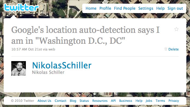 Dear Google, there is no such location as Washington, D.C., DC