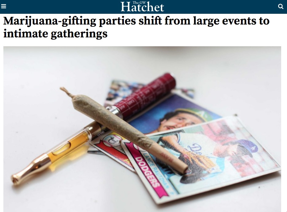 GW Hatchet: Marijuana-gifting parties shift from large events to intimate gatherings