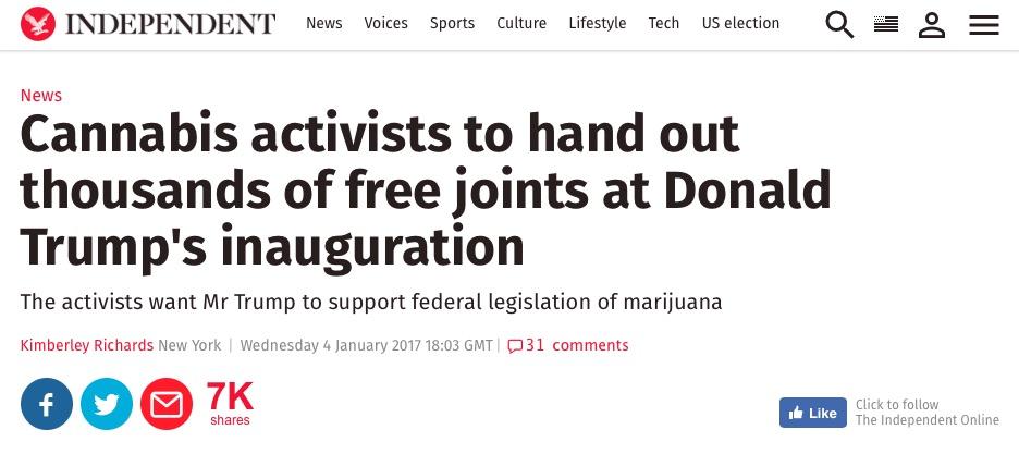 Screengrab of article headline