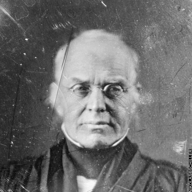 half plate daguerreotype of Joseph Story taken between 1844 and 1845 found in the Library of Congress daguerreotype collection
