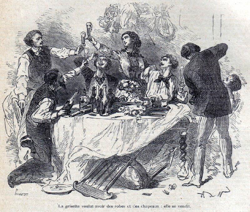 A scan from Alexander Dumas' Les Morts vont vite