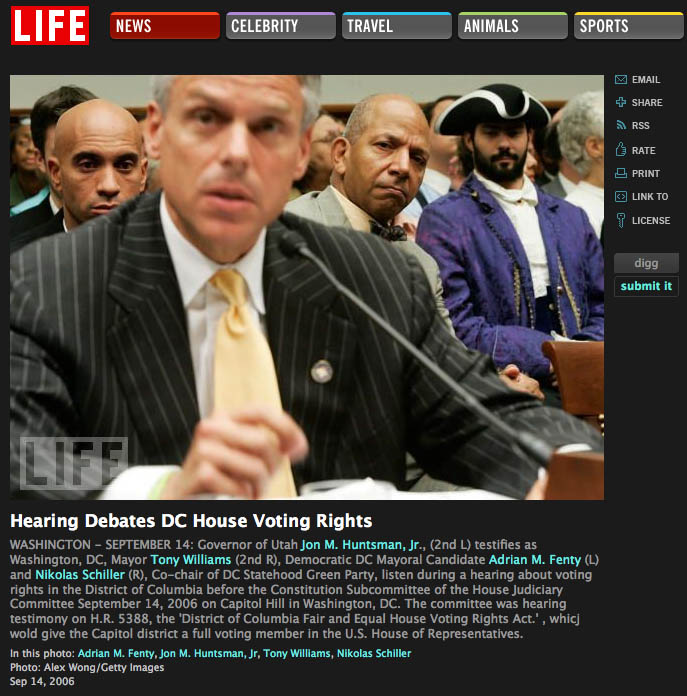 Screen grab from Life.com showing a photo of the DC Colonist