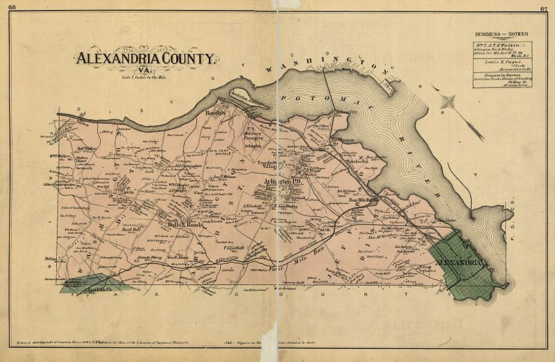 Map of Alexandria County from 1878
