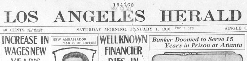 Scan of the newspaper masthead