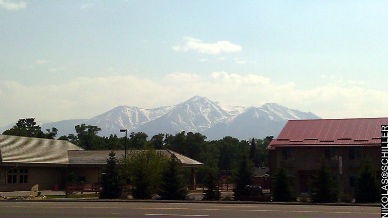 Photograph of Mount Princeton as seen from Buena Vista, Colorado