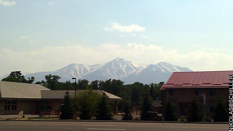 Photograph of Mount Princeton as seen from Buena Vista, Colorado