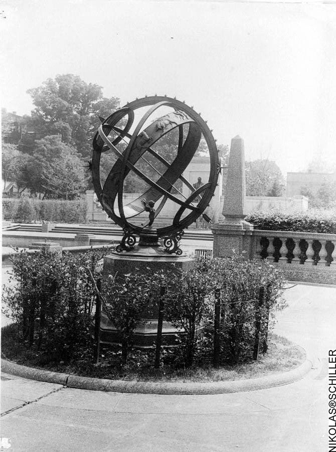 National Park Service Photograph of the Noyes Armillary Sphere in Meridian Hill Park in the District of Columbia taken in the 1930's