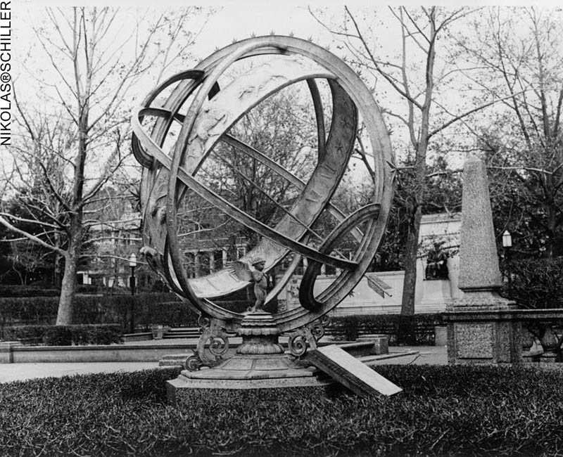 National Park Service Photograph of the Noyes Armillary Sphere in Meridian Hill Park in the District of Columbia taken in the 1965