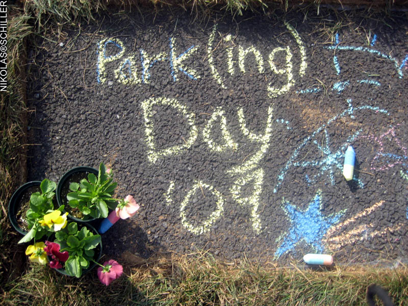 Photograph from Parking Day DC 2009