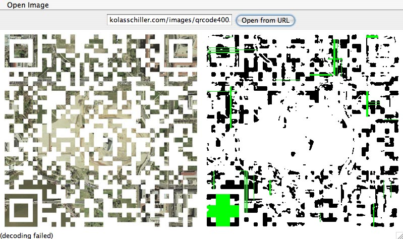 Geovisual QR Code [failure] by Nikolas Schiller