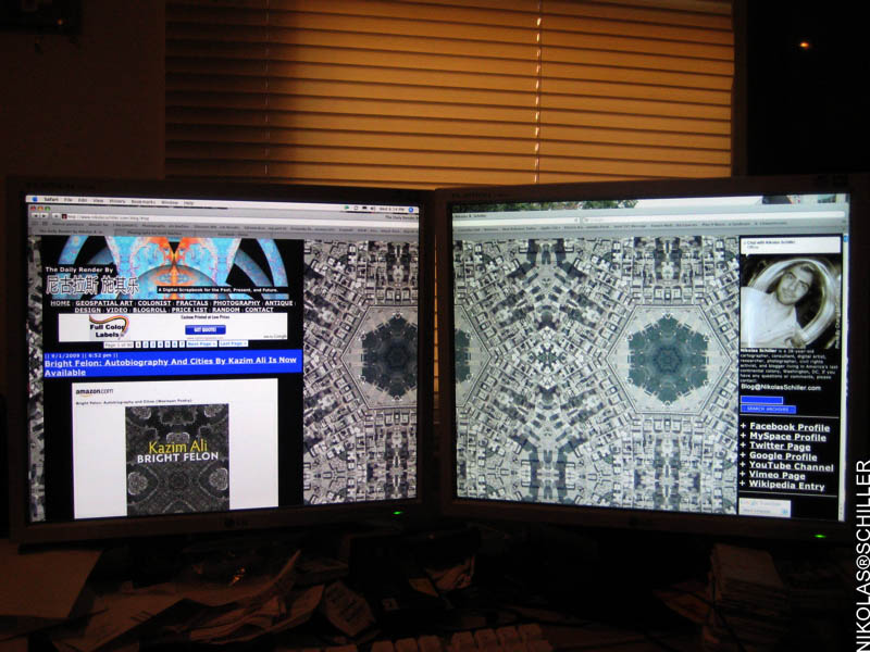 Photograph Of This Website On Two Computer Monitors