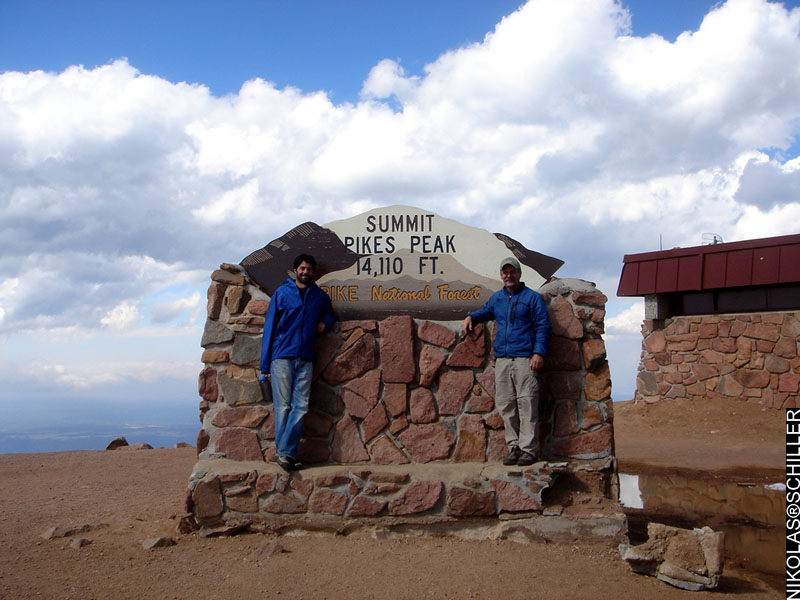 Photograph from the top of Pike's Peak