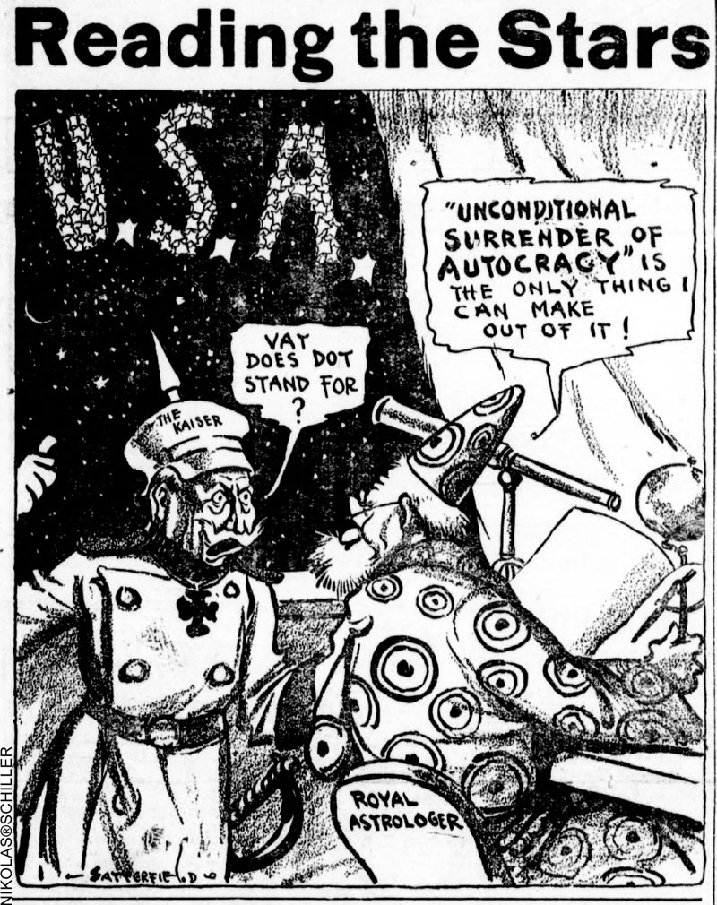 Cartoon originally published in the Tacoma Times on September 1st, 1917