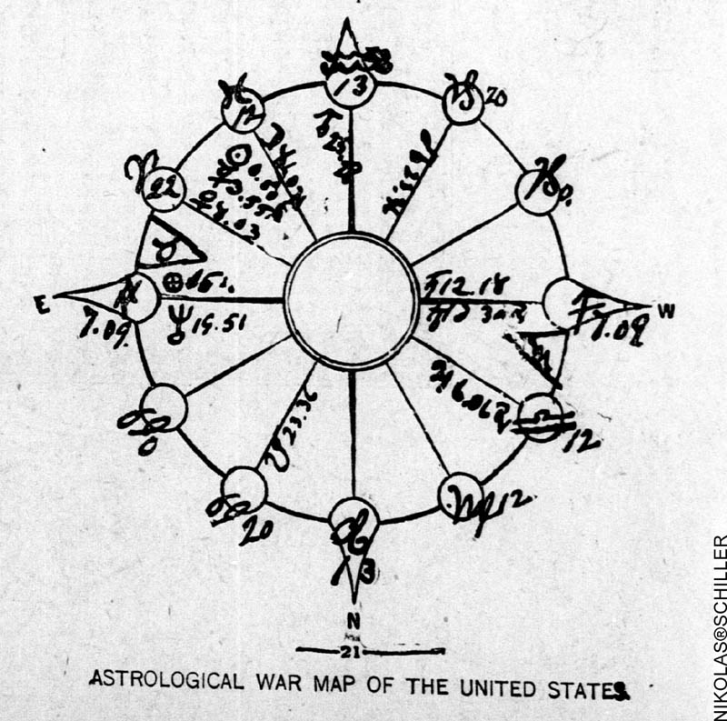 A War Map of the Stars from the Washington Times, April 10, 1898