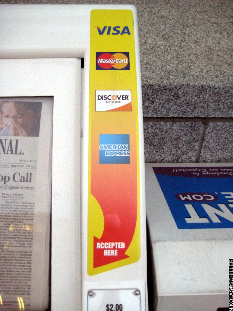 Photograph of the Wall Street Journal Newspaper Vending Machine