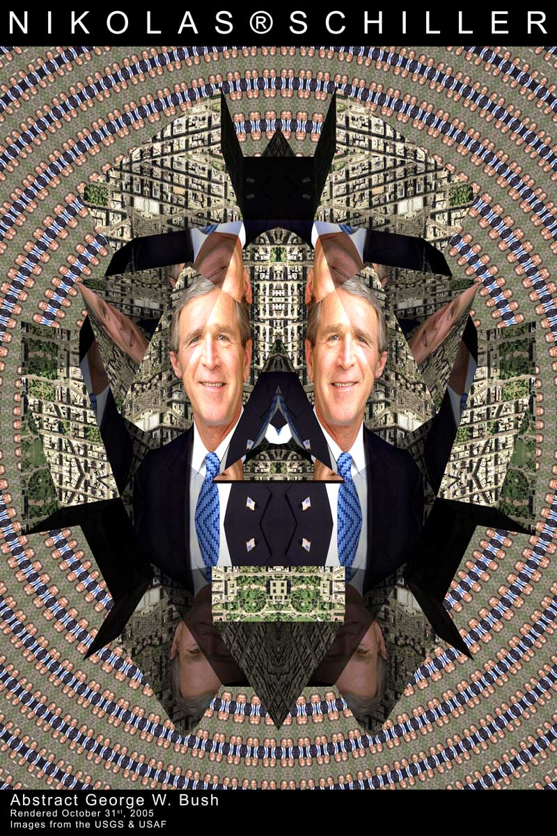 Abstract George W. Bush