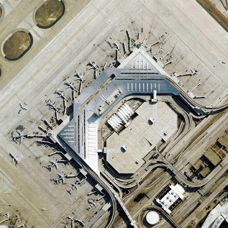 Detail of Dallas-Fort Worth International Airport Quilt by Nikolas Schiller