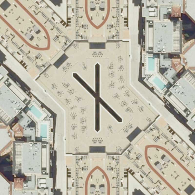 A zoom in to the center of Washington Circle Parallelogram by Nikolas Schiller